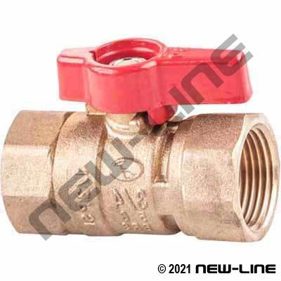 Brass Female NPT CGA Ball Valve with T Handle