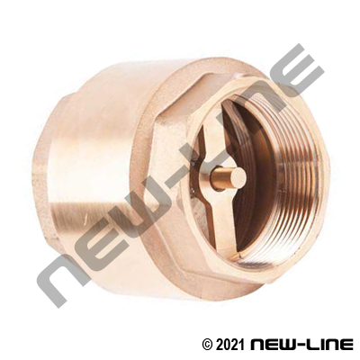 Brass Check Valve - No Internal Nut