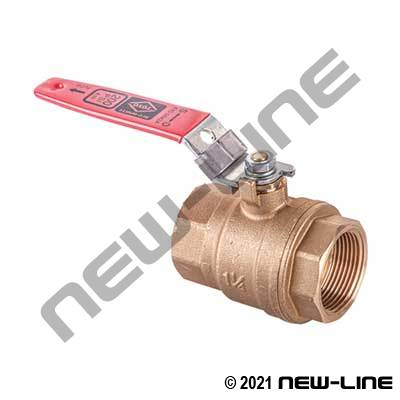 Red/White #5044A Bronze Ball Valve