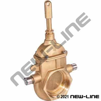 NPT Brass Piston Quick Opening Gate Valve with Heatable Bolt