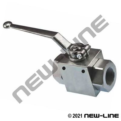 NPT 2 Way Plated Steel Ball Valve