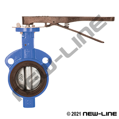 Standard Wafer Butterfly Valve, Lever Operated, EPDM Seal