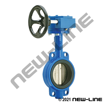 Standard Wafer Butterfly Valve, Gear Operated, EPDM Seal