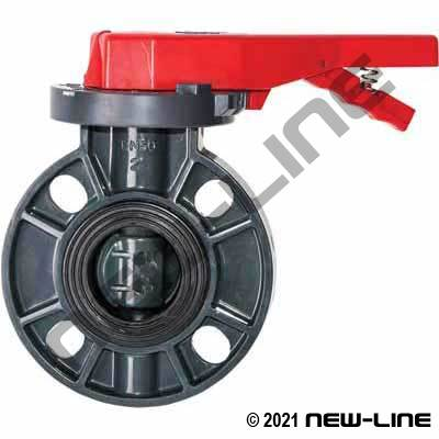 PVC ANSI Flange Butterfly Valve with Lever and EPDM Seal