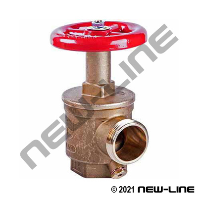 Female x Male Brass 90° Angle Fire Valve