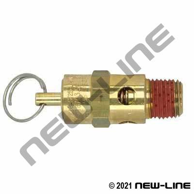 Male NPT Brass Safety Relief Valve