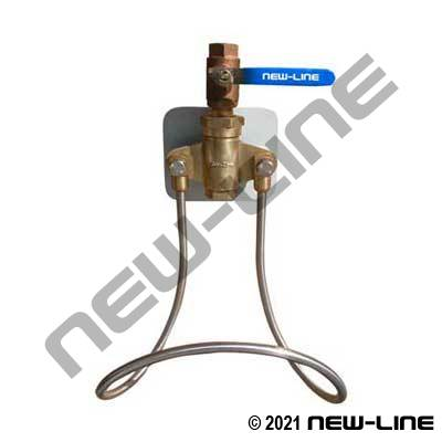 Single Line Water Station with Brass Ball Valve