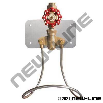 Single Line Water Station with Brass Globe Valve