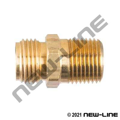 Brass MNPSM x MNPT Adapter for use with N462-/N461- Series