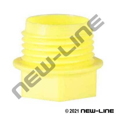Yellow BSP/GAZ Threaded Plastic Plug
