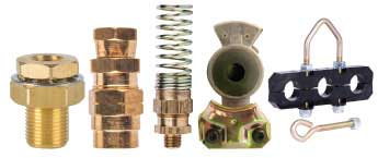 Air Brake DOT Compression Fittings For Rubber Hose, & Misc